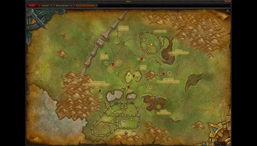 frentes de guerra wow mapa alianza
