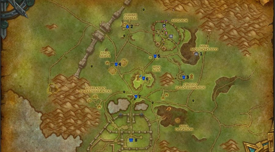frentes de guerra wow mapa